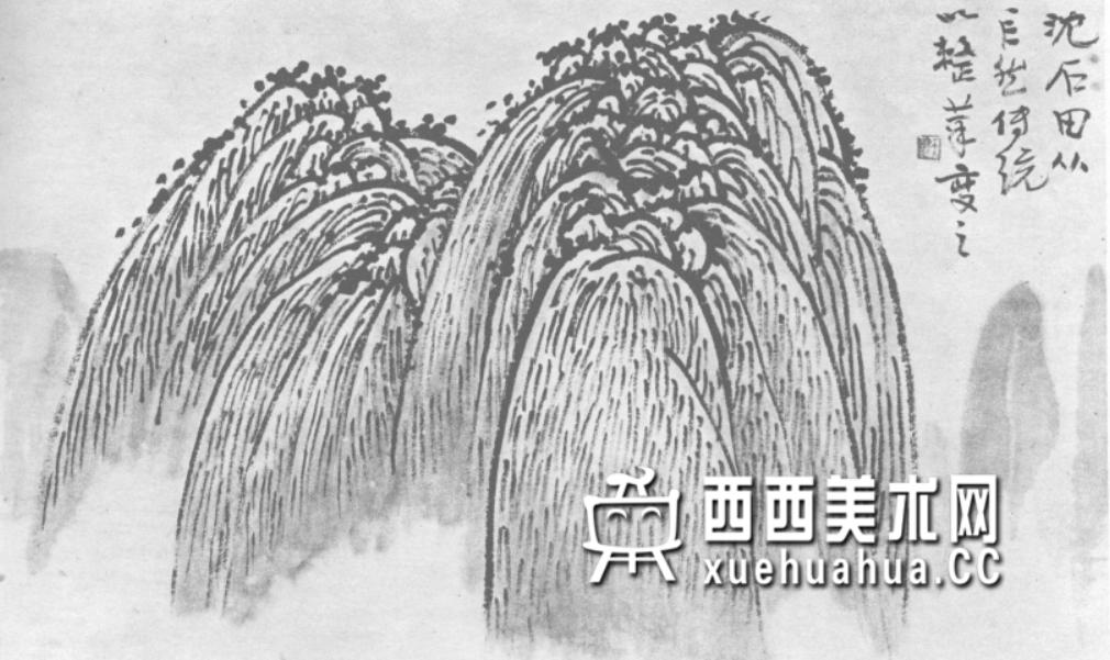 国画山石皴法详解(多图预警)(92)