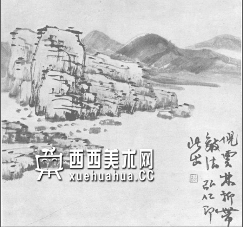 国画山石皴法详解(多图预警)(75)