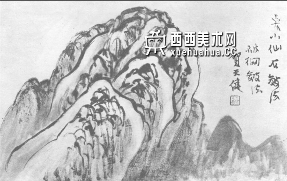 国画山石皴法详解(多图预警)(85)