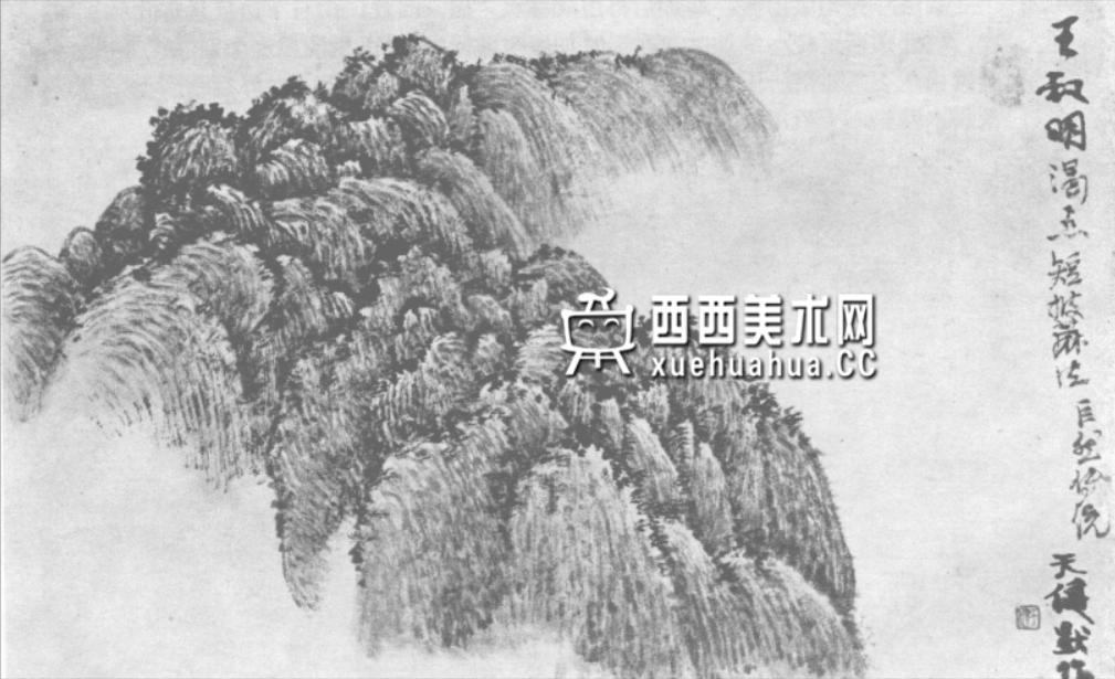 国画山石皴法详解(多图预警)(72)