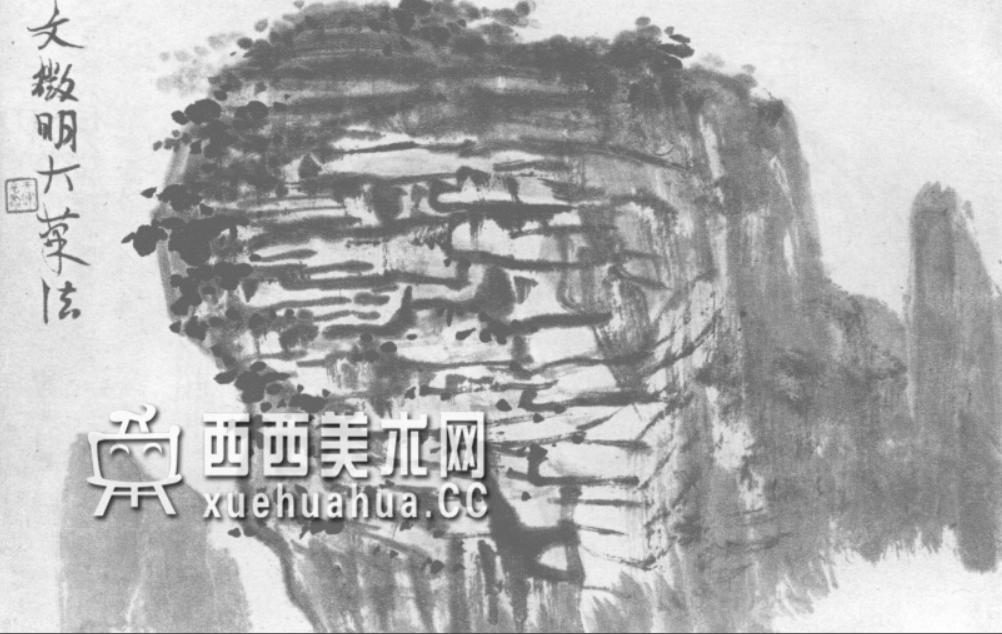 国画山石皴法详解(多图预警)(94)