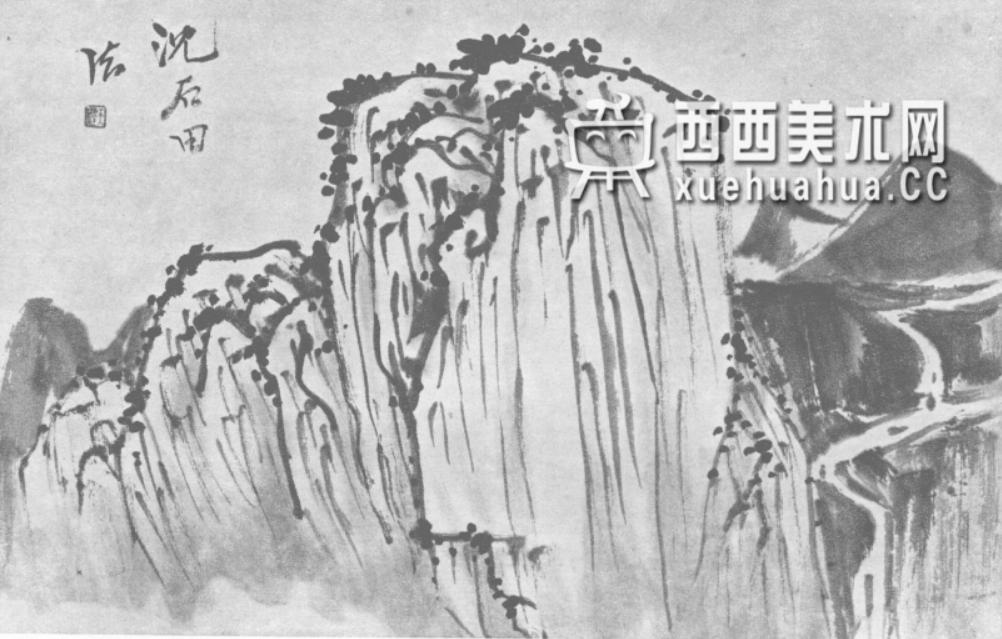 国画山石皴法详解(多图预警)(90)