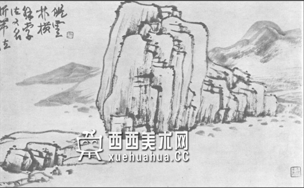 国画山石皴法详解(多图预警)(74)