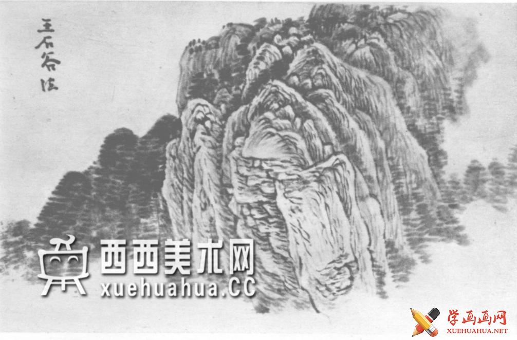 国画山石皴法详解(多图预警)(102)
