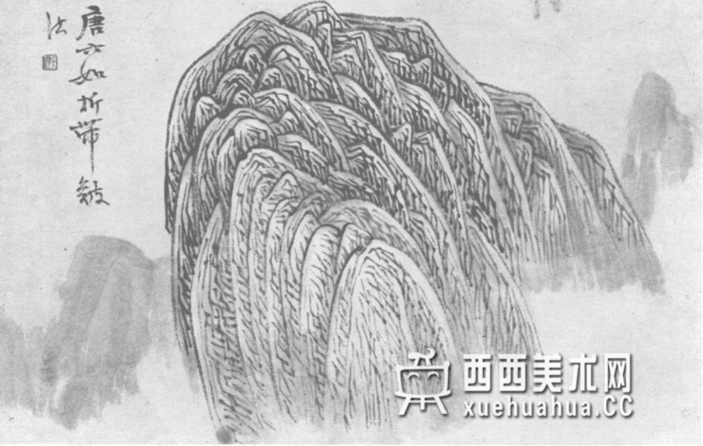 国画山石皴法详解(多图预警)(95)