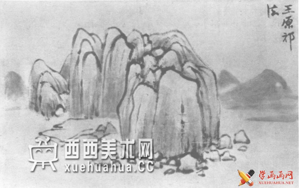 国画山石皴法详解(多图预警)(103)