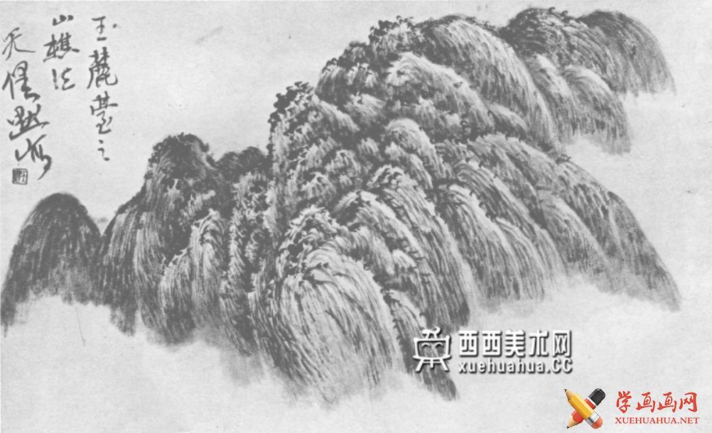 国画山石皴法详解(多图预警)(105)