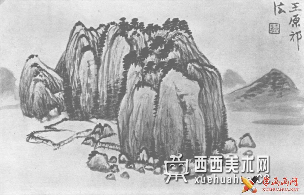 国画山石皴法详解(多图预警)(104)