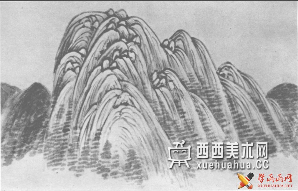 国画山石皴法详解(多图预警)(99)