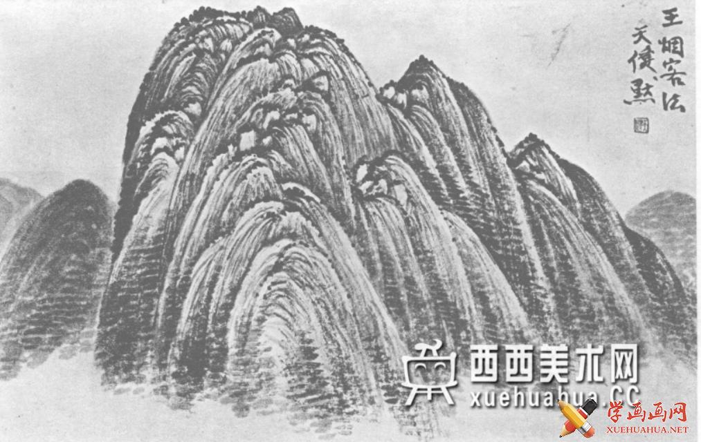 国画山石皴法详解(多图预警)(101)