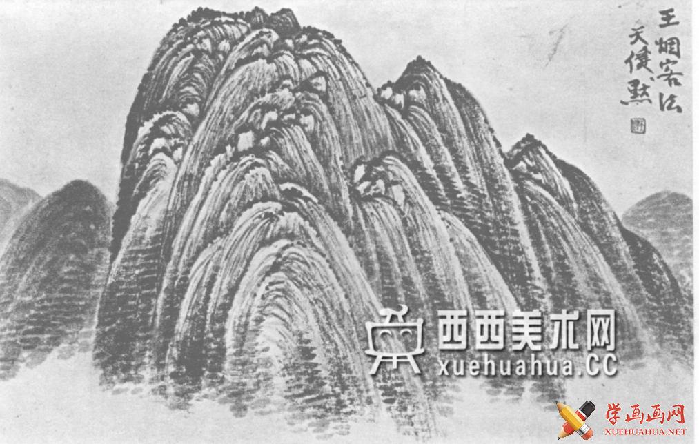 国画山石皴法详解(多图预警)(100)