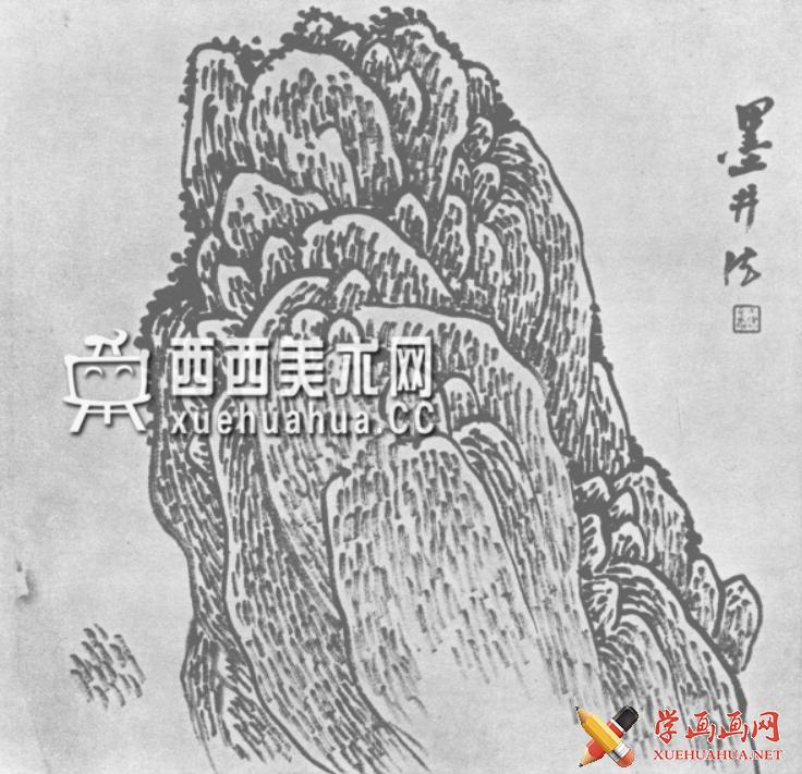 国画山石皴法详解(多图预警)(106)