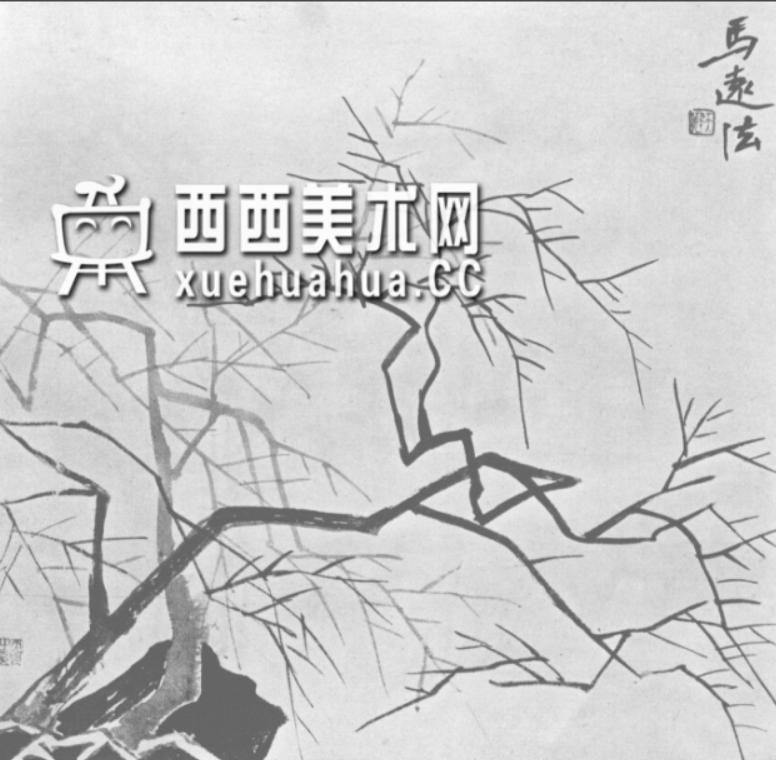 怎么画树?中国画树的画法资料教程(18)