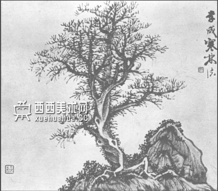 怎么画树?中国画树的画法资料教程(6)