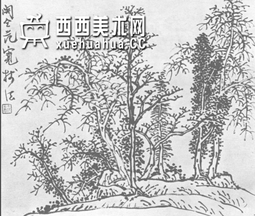 怎么画树?中国画树的画法资料教程(4)