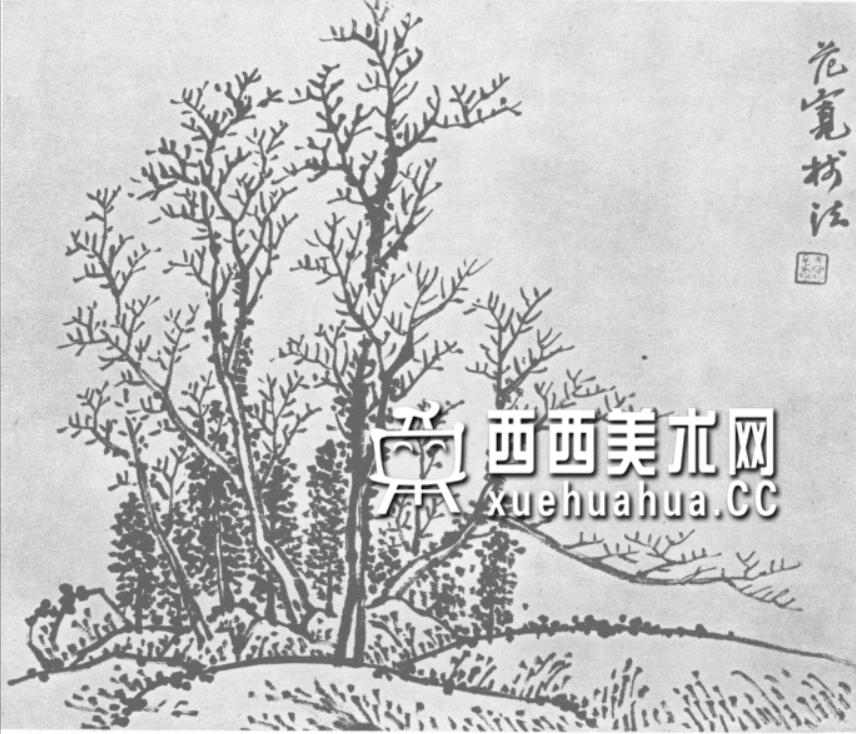怎么画树?中国画树的画法资料教程(7)
