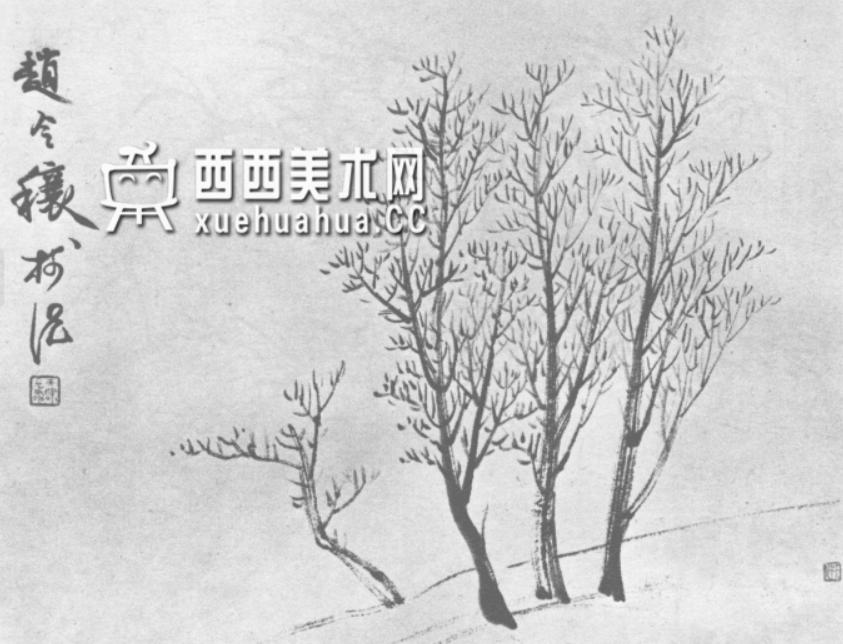 怎么画树?中国画树的画法资料教程(11)
