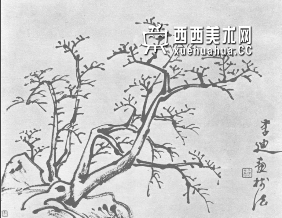 怎么画树?中国画树的画法资料教程(16)