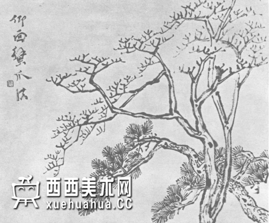 怎么画树?中国画树的画法资料教程(3)