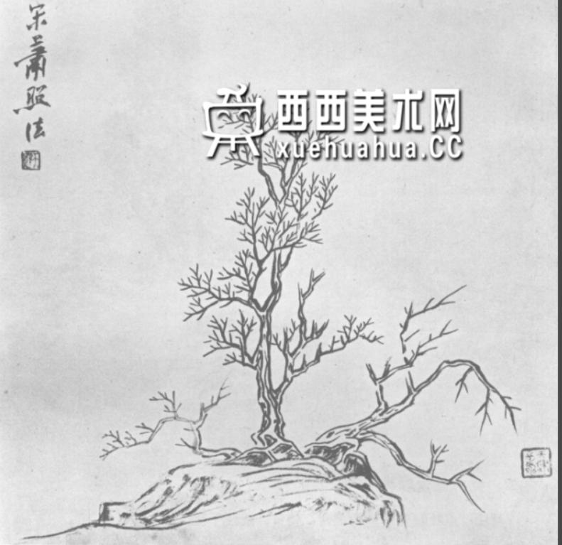 怎么画树?中国画树的画法资料教程(17)