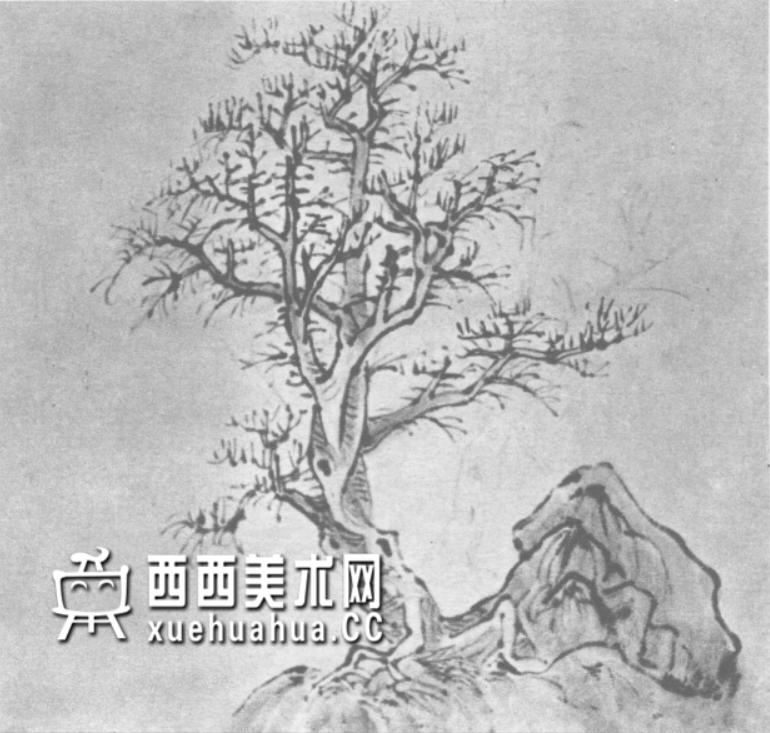 怎么画树?中国画树的画法资料教程(5)