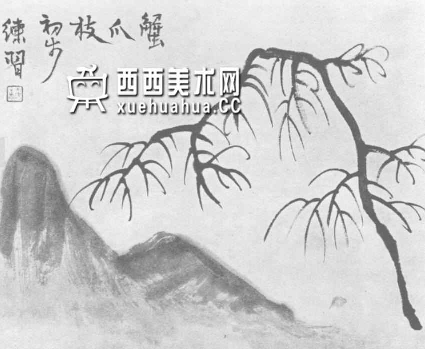 怎么画树?中国画树的画法资料教程(1)
