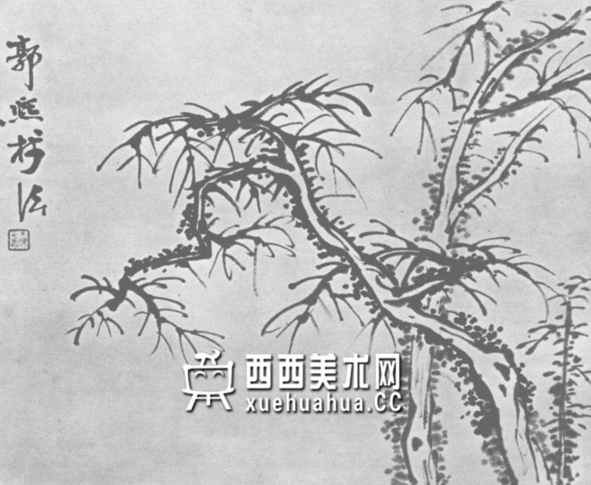 怎么画树?中国画树的画法资料教程(8)