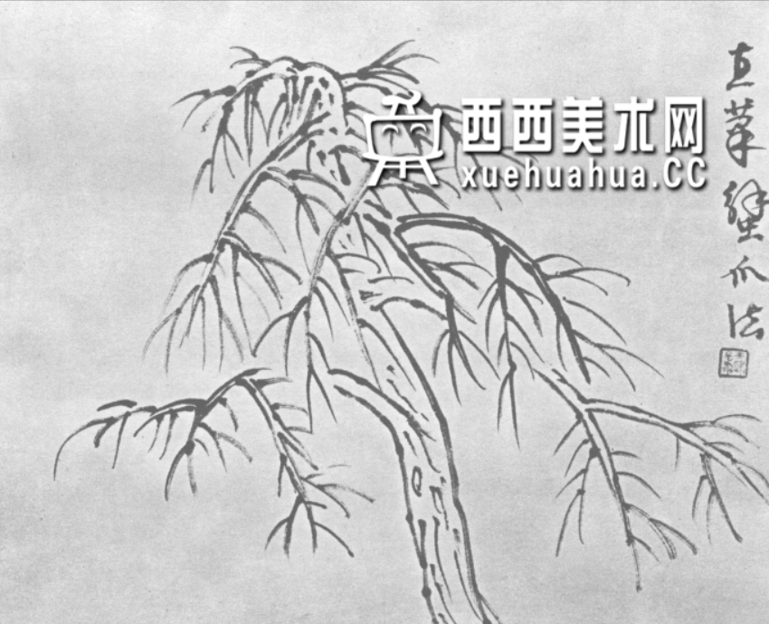 怎么画树?中国画树的画法资料教程(2)
