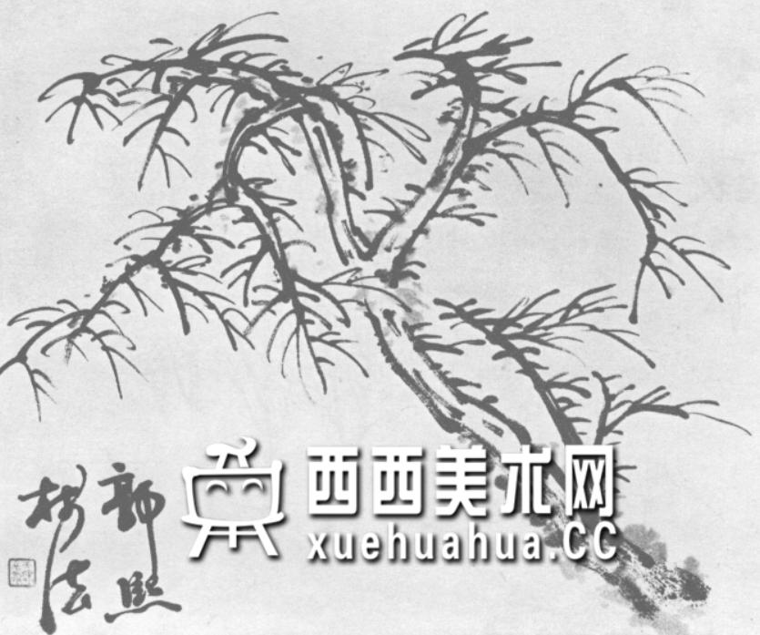 怎么画树?中国画树的画法资料教程(9)