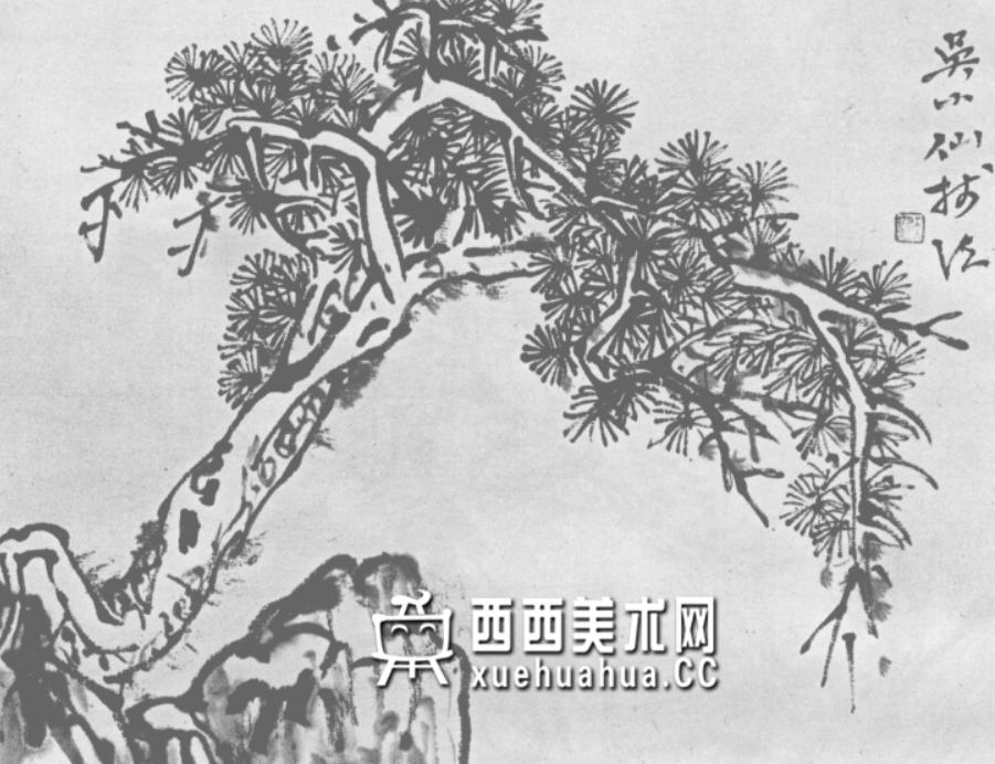 怎么画树?中国画树的画法资料教程(23)