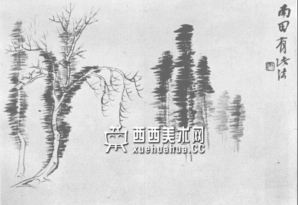 怎么画树?中国画树的画法资料教程(26)