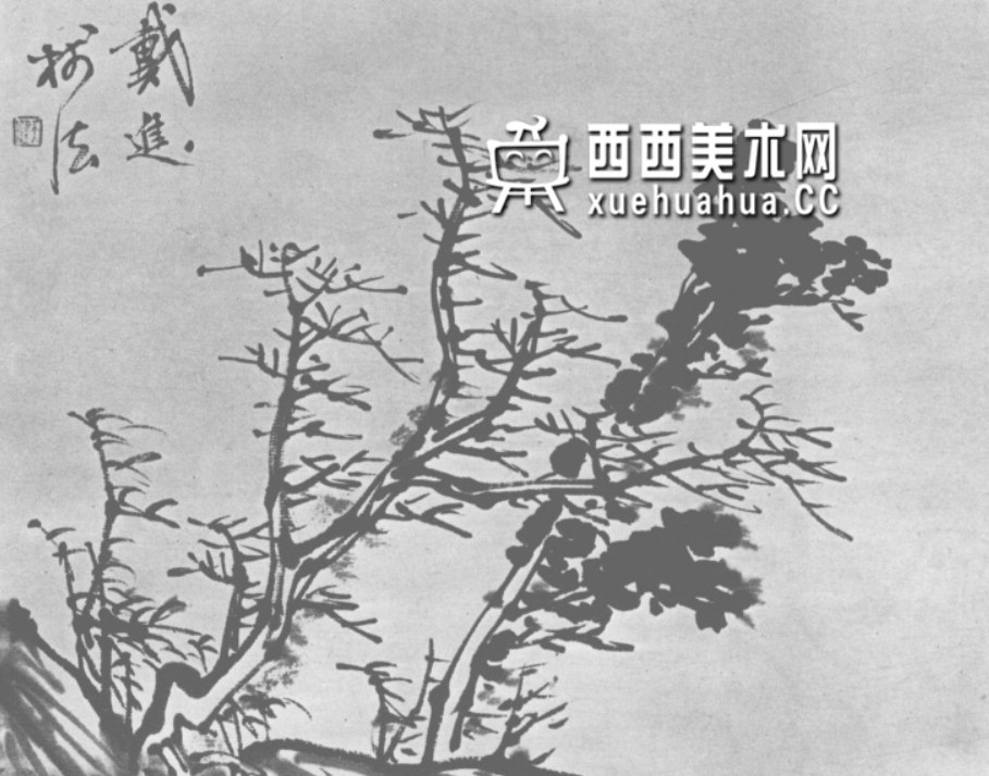 怎么画树?中国画树的画法资料教程(21)