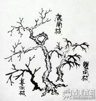 国画入门_山水画中树木的分类及画法(5)