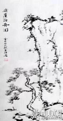 国画入门_山水画中树木的分类及画法(2)
