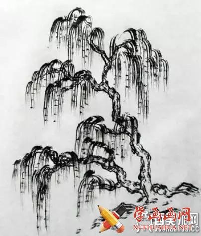 国画入门_山水画中树木的分类及画法(6)