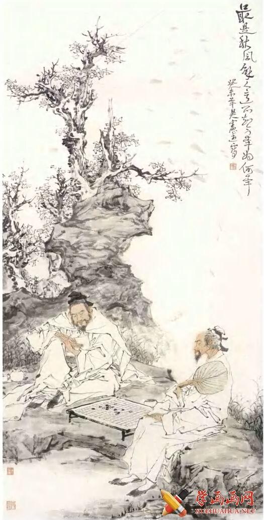 吴宪生国画写意人物《最是秋风解人意》(1)