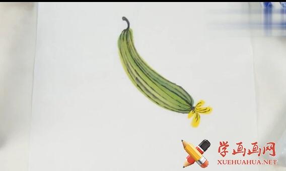 国画入门视频教学系列-丝瓜的画法