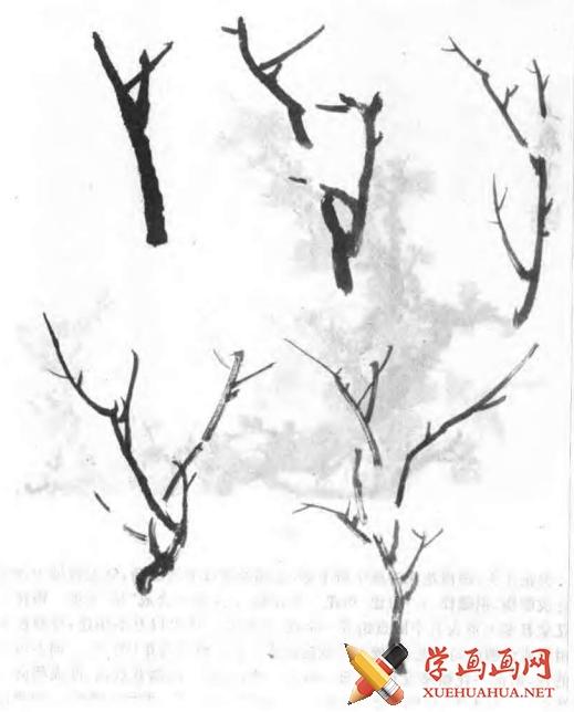 中国画写意梅花的画法