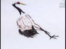 国画入门教程:仙鹤的画法