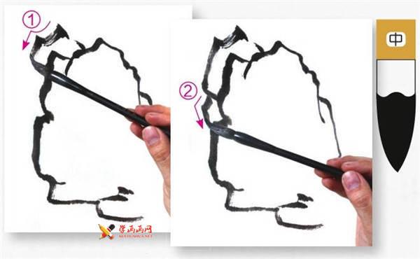 山水画基础技法:山石的画法及皴法详解(12)