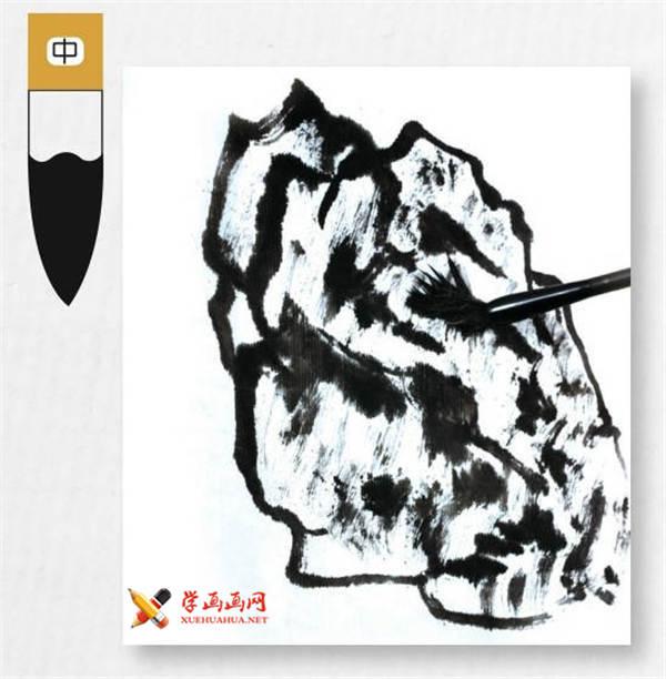 山水画基础技法:山石的画法及皴法详解(19)