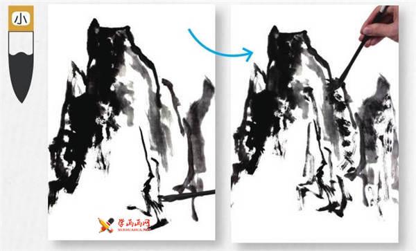 山水画基础技法:山石的画法及皴法详解(42)