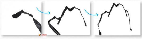山水画基础技法:山石的画法及皴法详解(57)