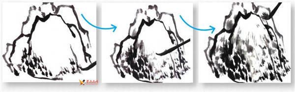 山水画基础技法:山石的画法及皴法详解(60)