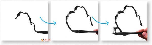 水墨山水画教程-云头皴的画法