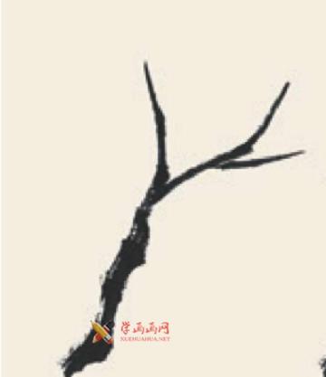 儿童学国画_柳树的画法教程(1)