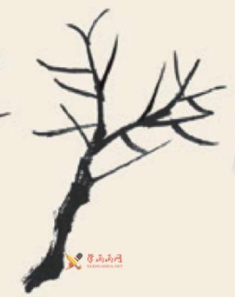 儿童学国画_柳树的画法教程(2)