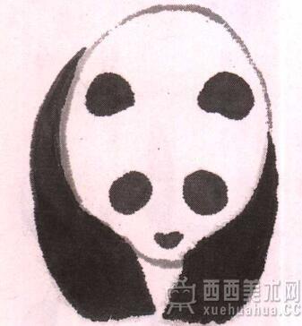 儿童学国画入门_水墨大熊猫的画法(4)