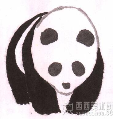 儿童学国画入门_水墨大熊猫的画法(5)