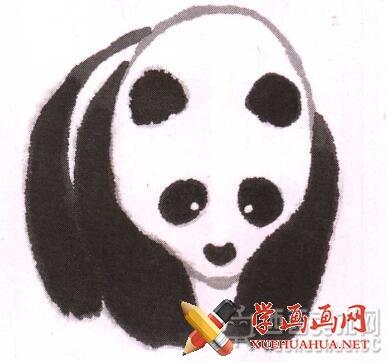 儿童学国画入门_水墨大熊猫的画法(6)